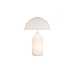 oluce Atollo Table lamp 蘑菇�F代玻璃�_��